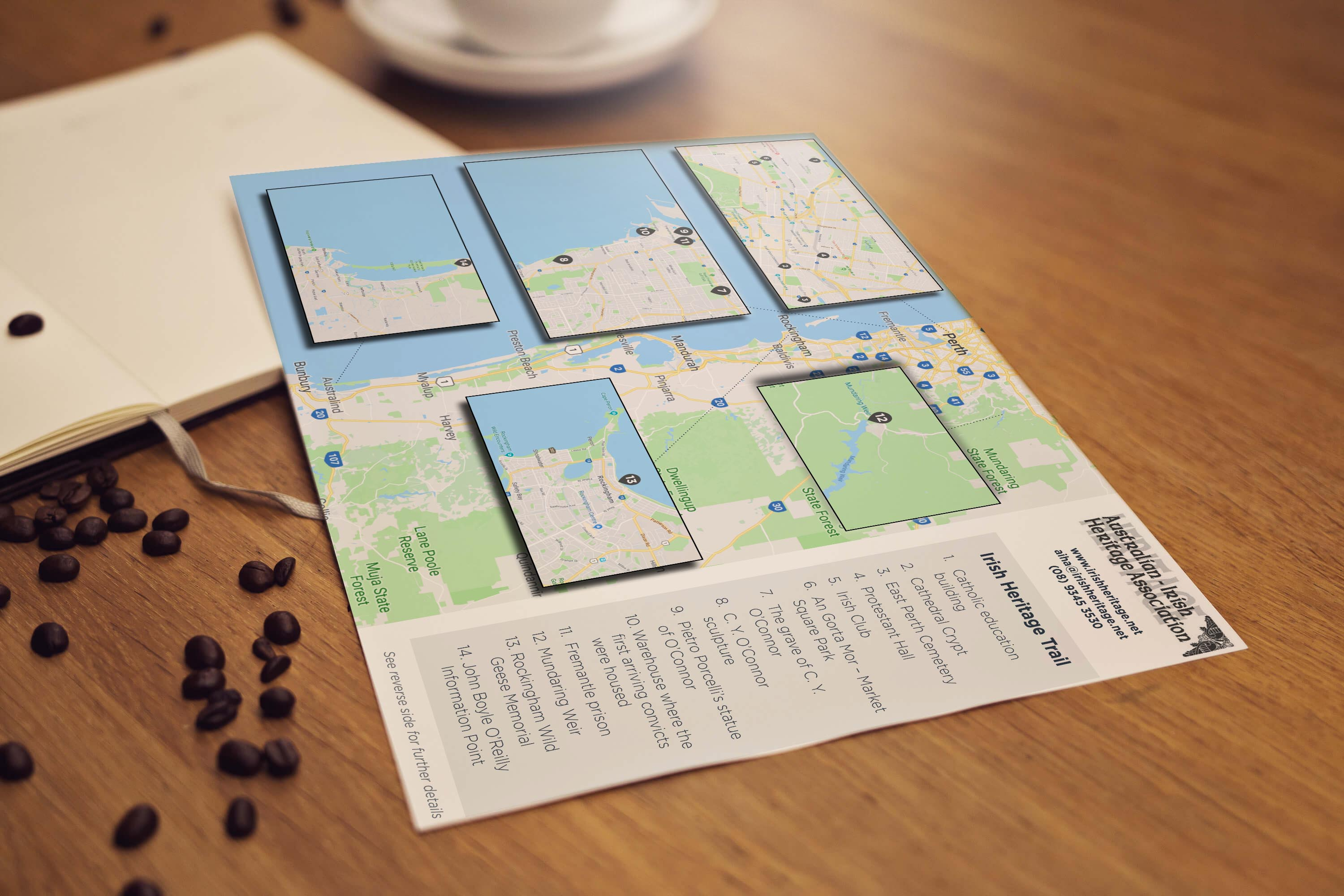Check out our latest work for the AIHA – a heritage trail map!