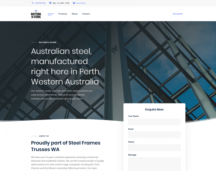 Battens and Studs - Bray Marketing - Web Design Perth