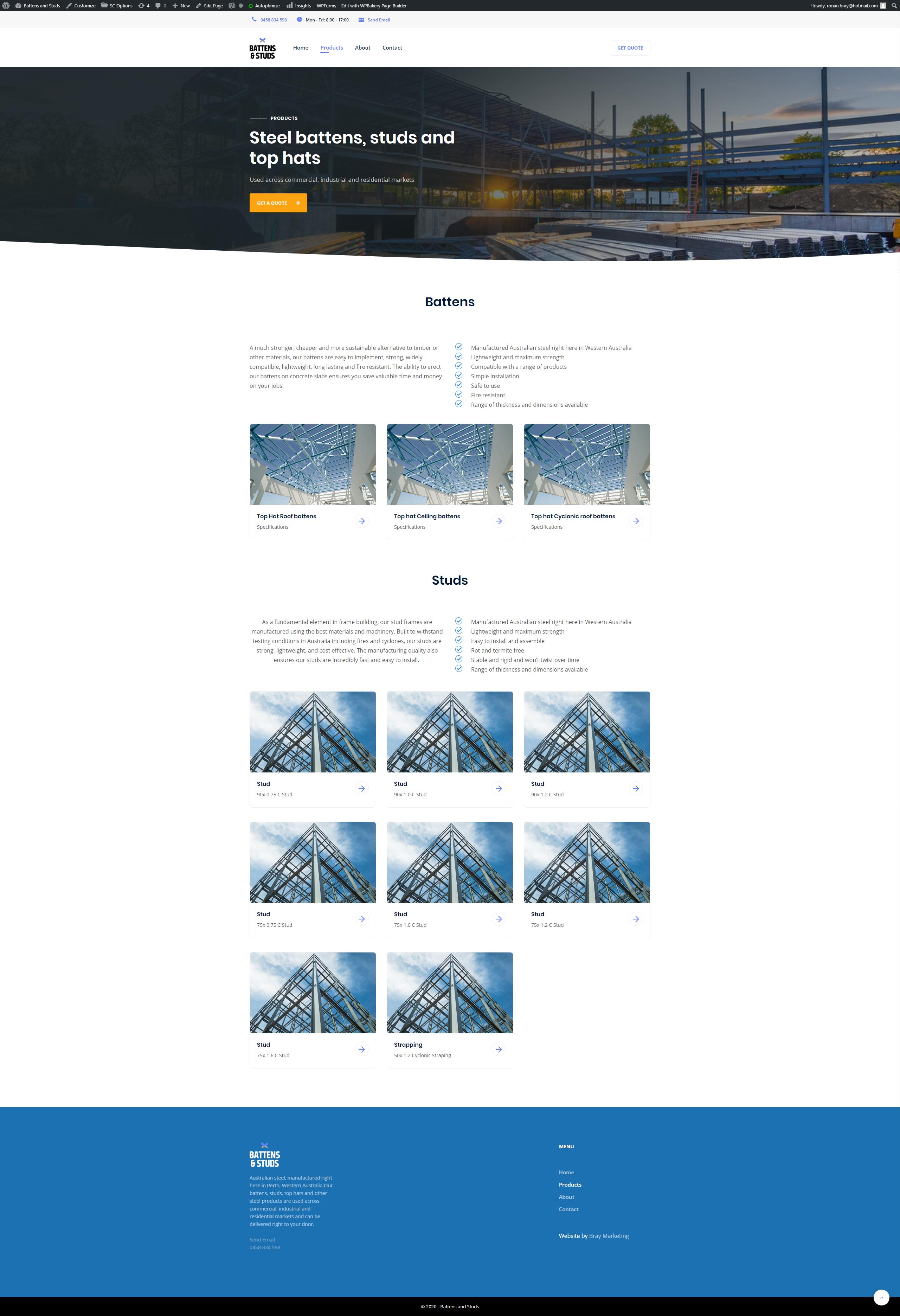 Battens and Studs - Bray Marketing - Web Design Perth