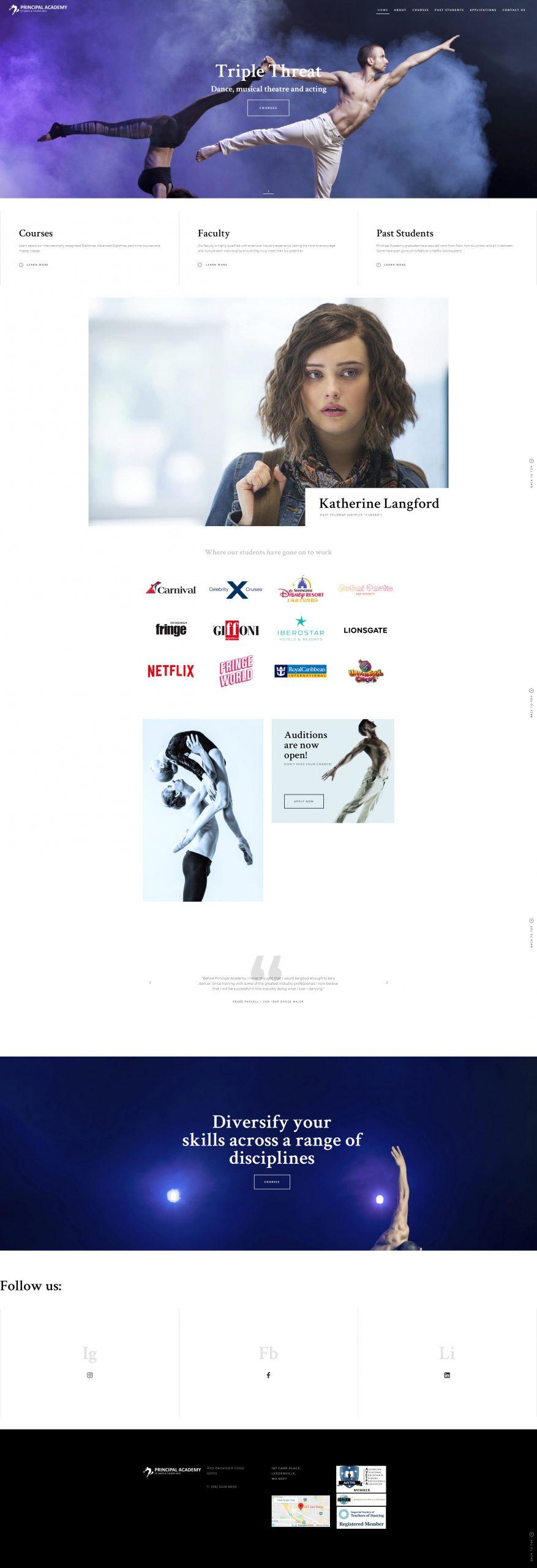 Bray Marketing - Web Design Perth - Marketing Perth - Principal Academy of Dance and Theatre Arts
