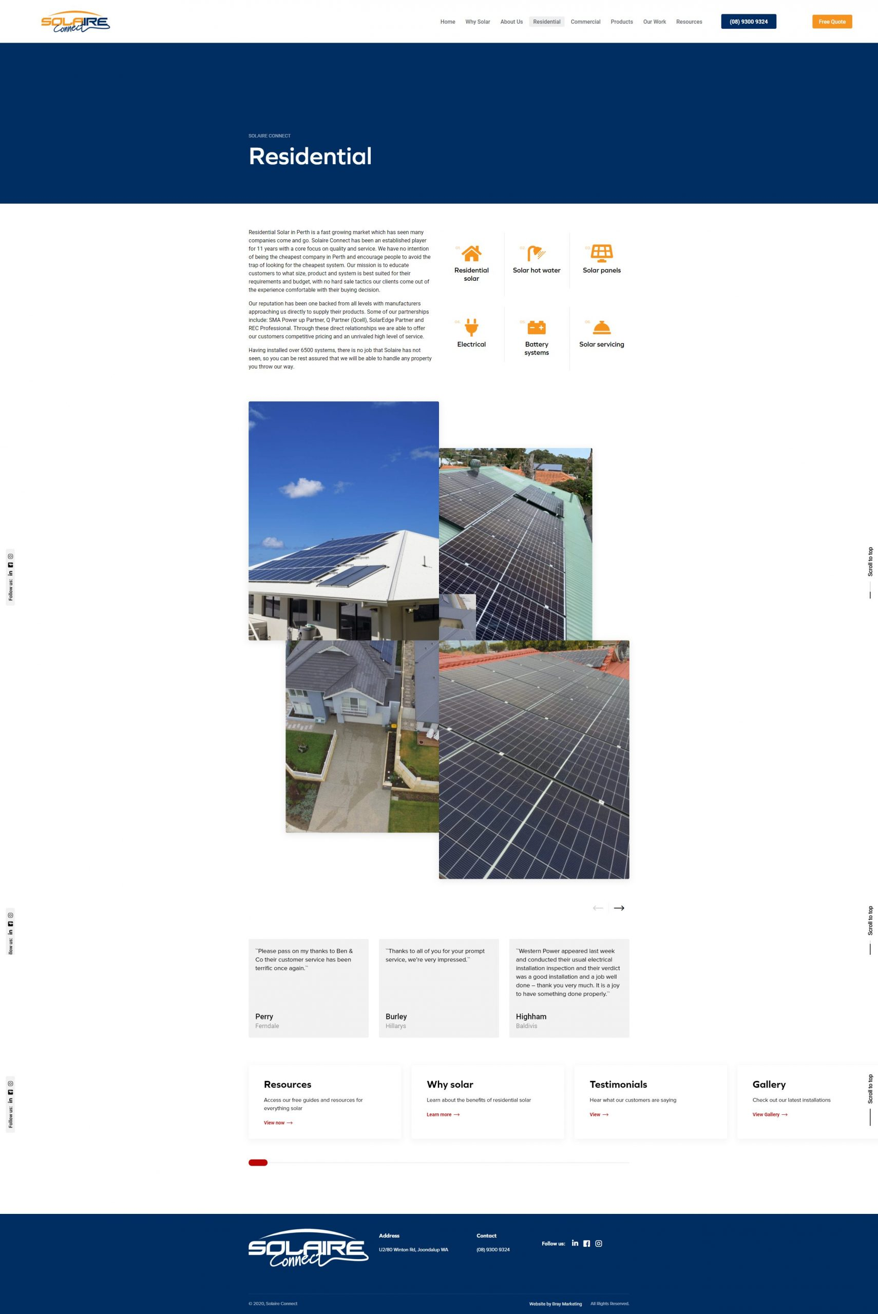 Solaire Connect - Residential Solar - Bray Marketing - Web Design Perth - Marketing Perth