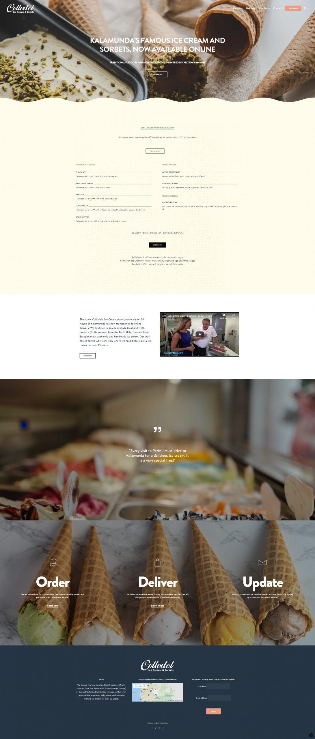 Collodel Ice Cream Sorbets - Kalamunda Perth - Bray Marketing Website